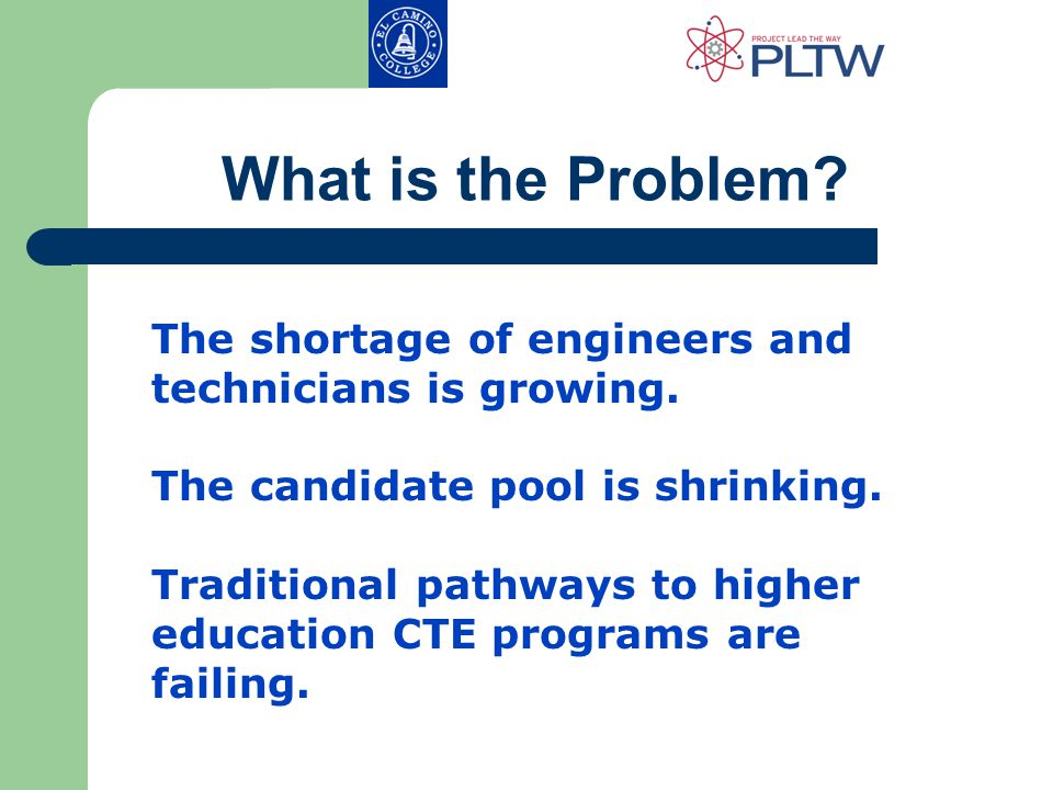 What is the Problem. The shortage of engineers and technicians is growing.