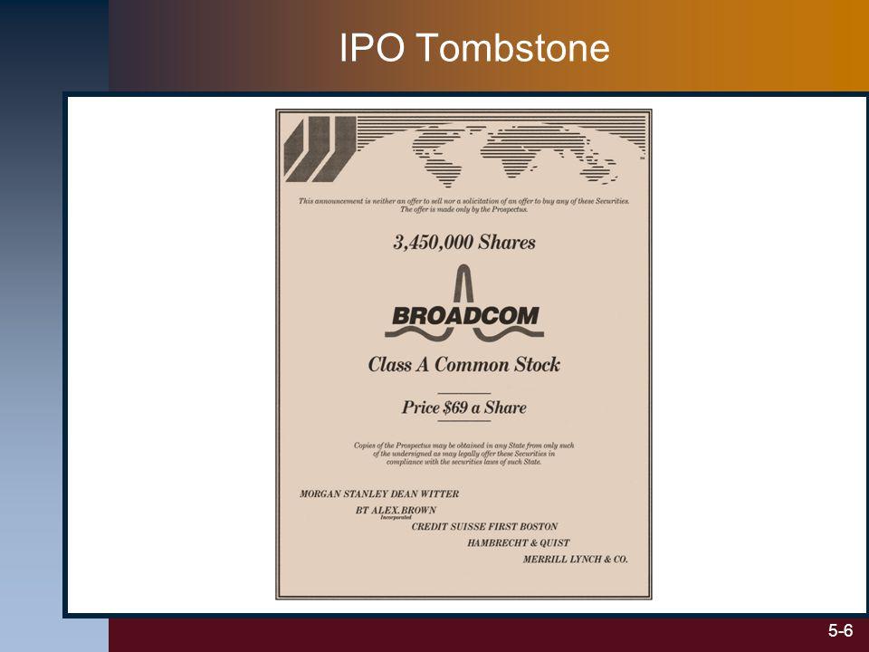5-6 IPO Tombstone
