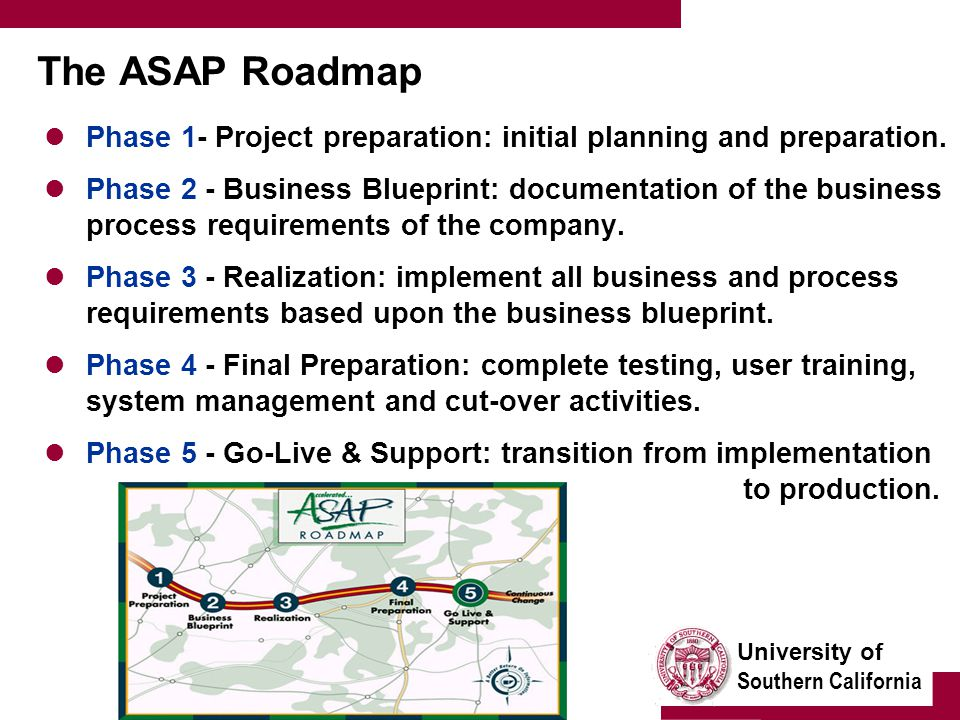 University of southern california enterprise wide information university of southern california the asap roadmap phase 1 project preparation initial planning and malvernweather Gallery