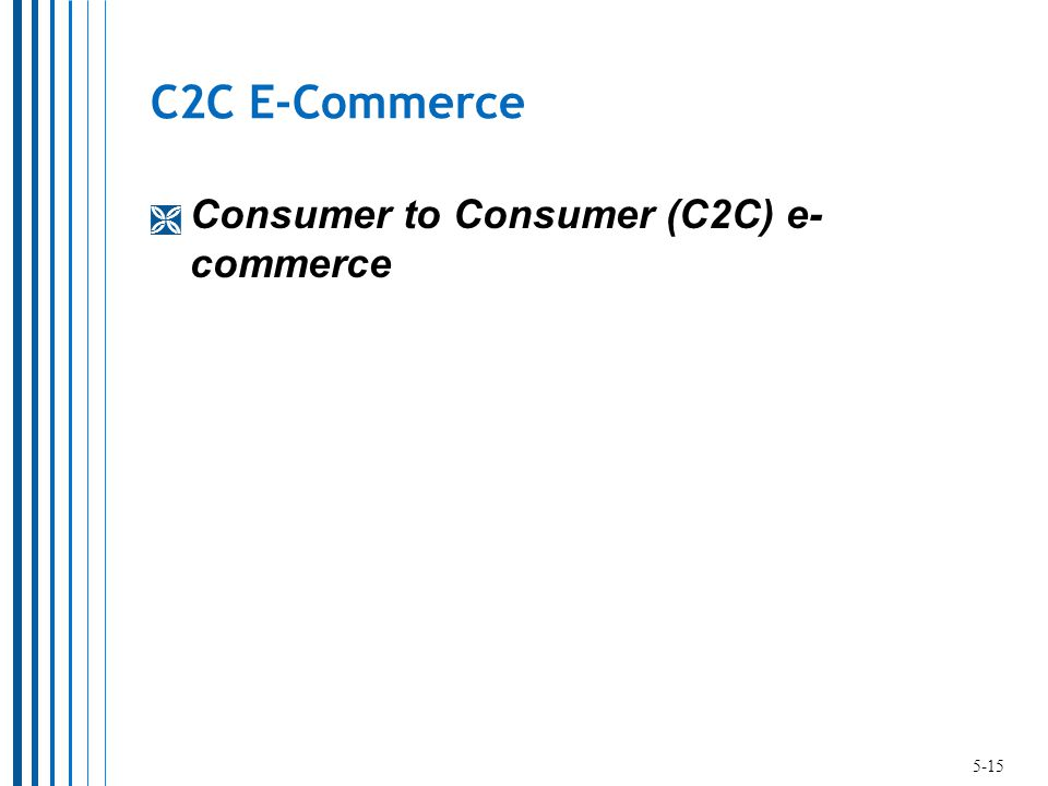 C2C E-Commerce  Consumer to Consumer (C2C) e- commerce 5-15