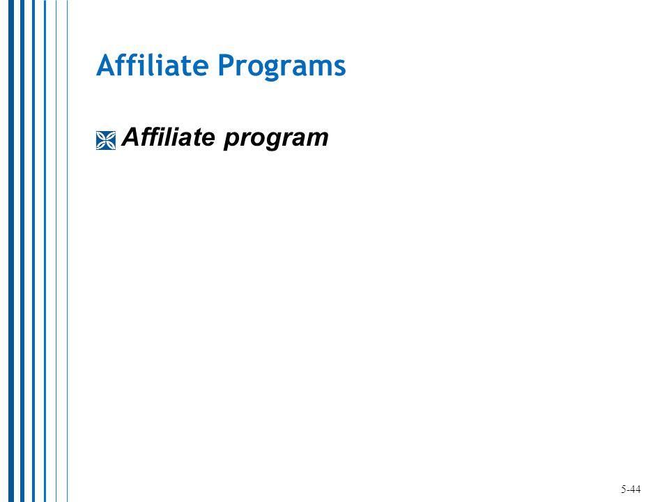 Affiliate Programs  Affiliate program 5-44