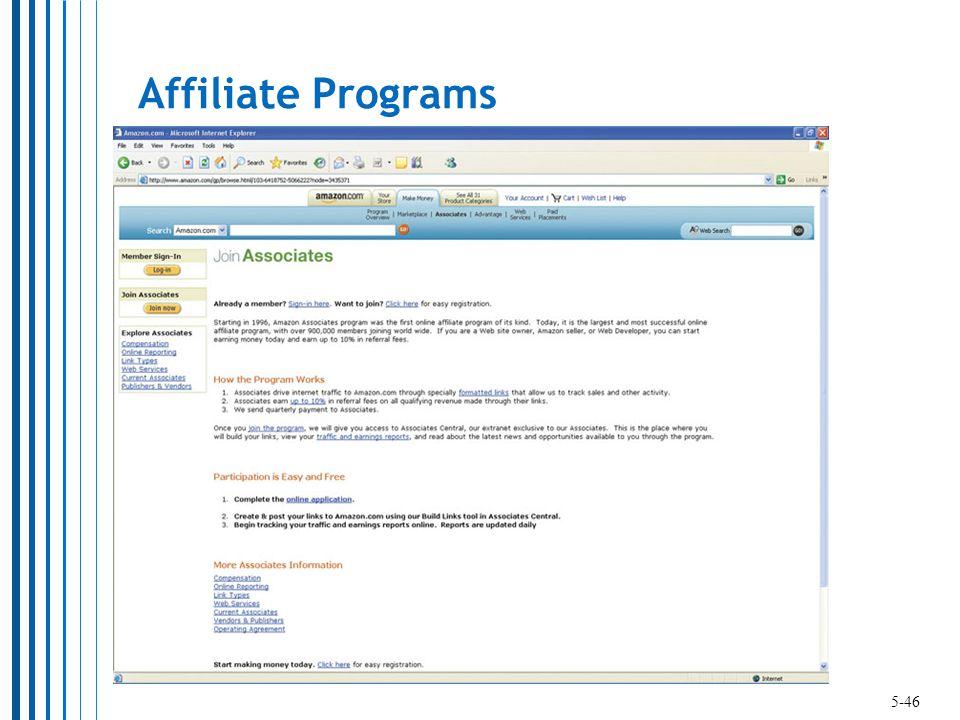 Affiliate Programs 5-46