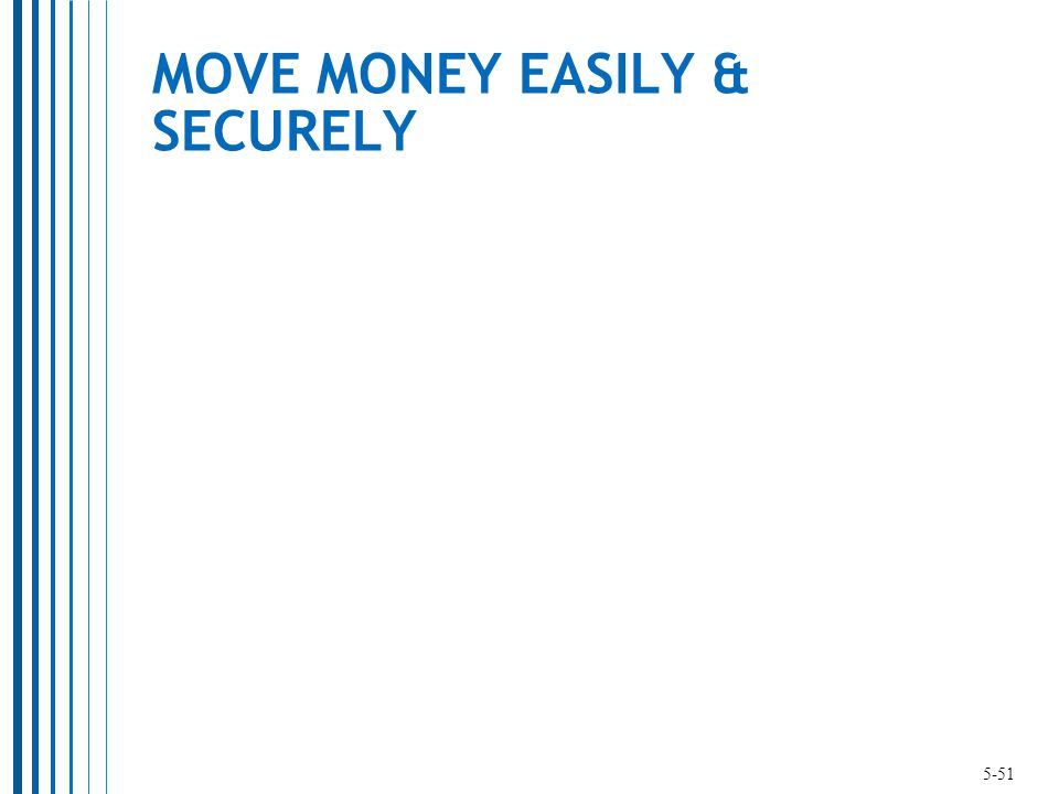 MOVE MONEY EASILY & SECURELY 5-51