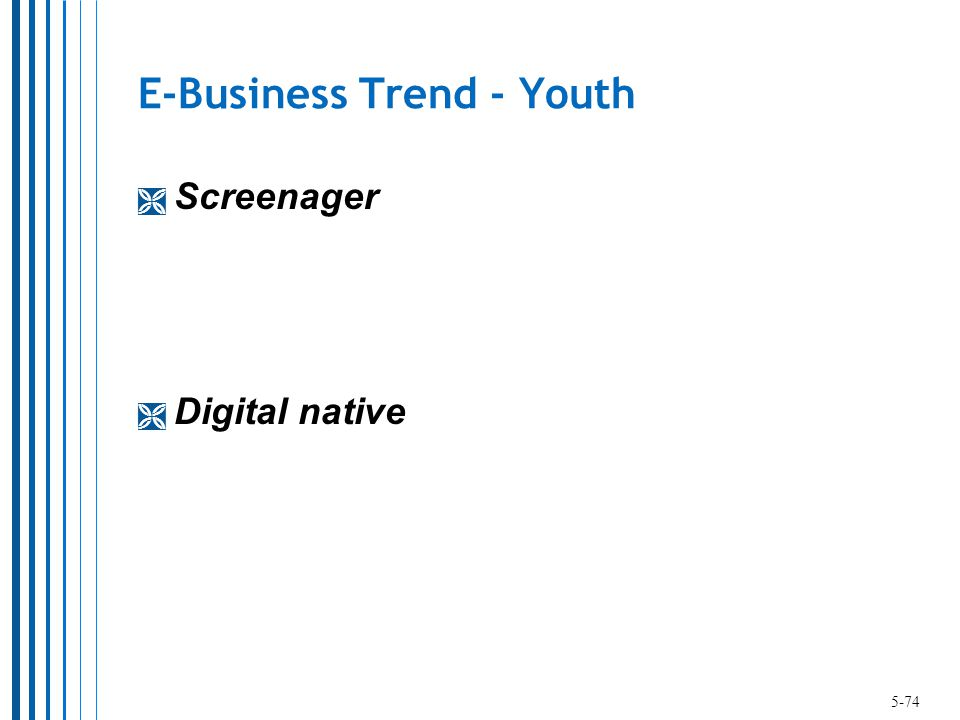 E-Business Trend - Youth  Screenager  Digital native 5-74