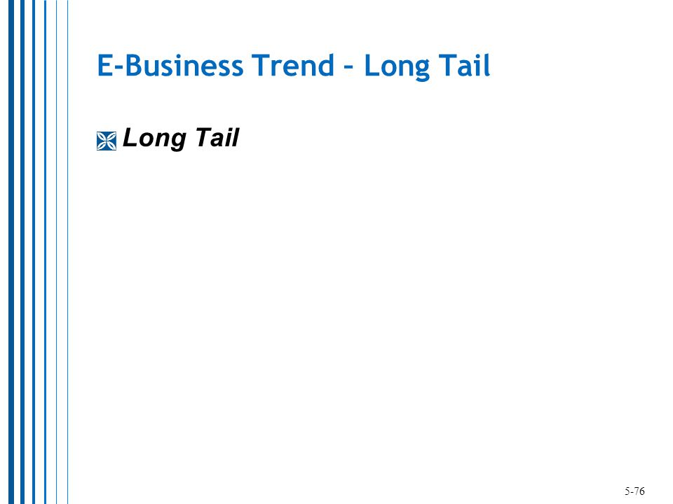 E-Business Trend – Long Tail  Long Tail 5-76