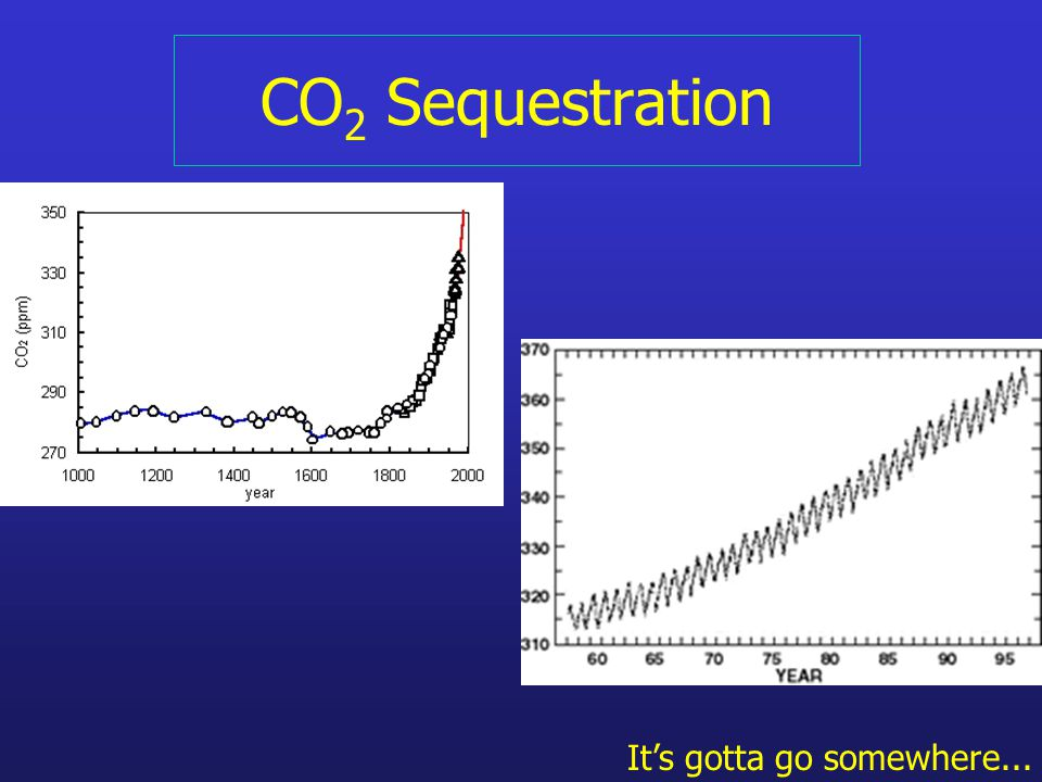 CO 2 Sequestration It's gotta go somewhere...