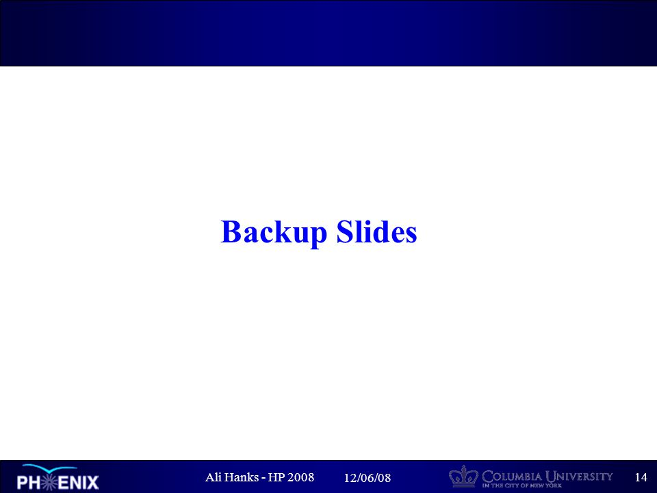 Ali Hanks - HP /06/08 Backup Slides