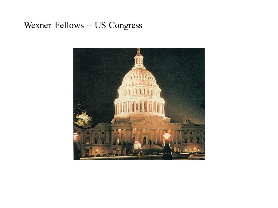 Wexner Fellows -- US Congress