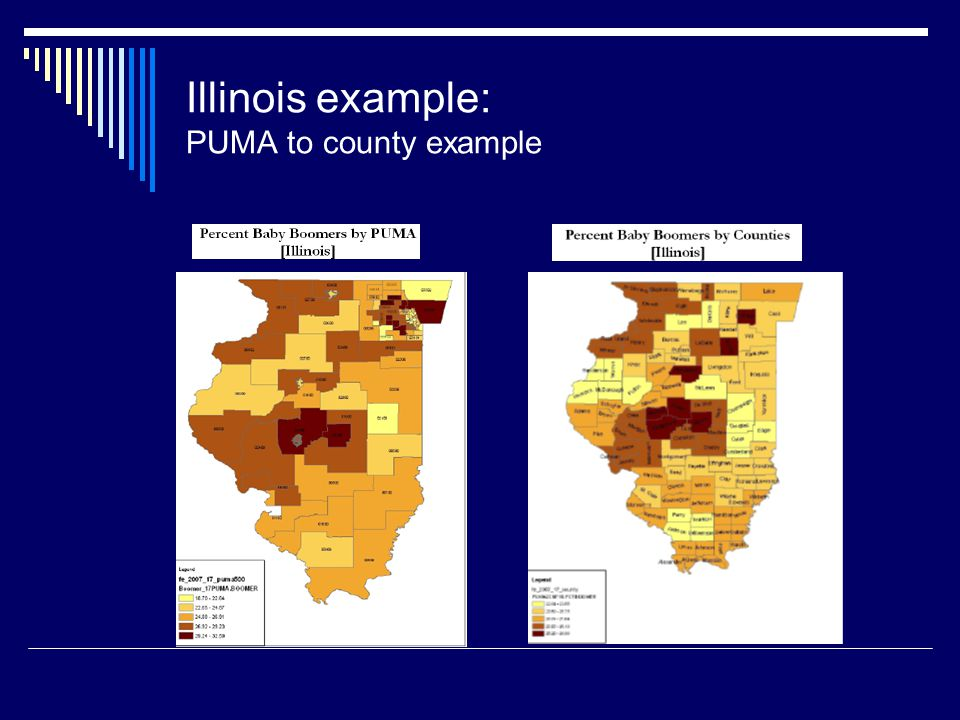 Illinois example: PUMA to county example
