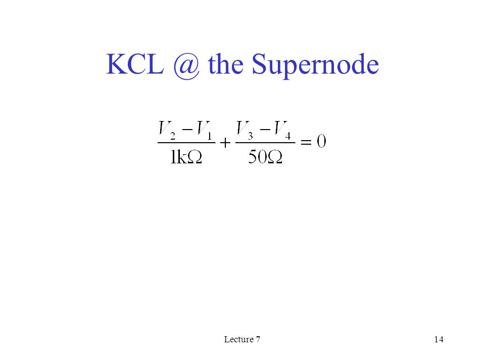 Lecture 714 the Supernode