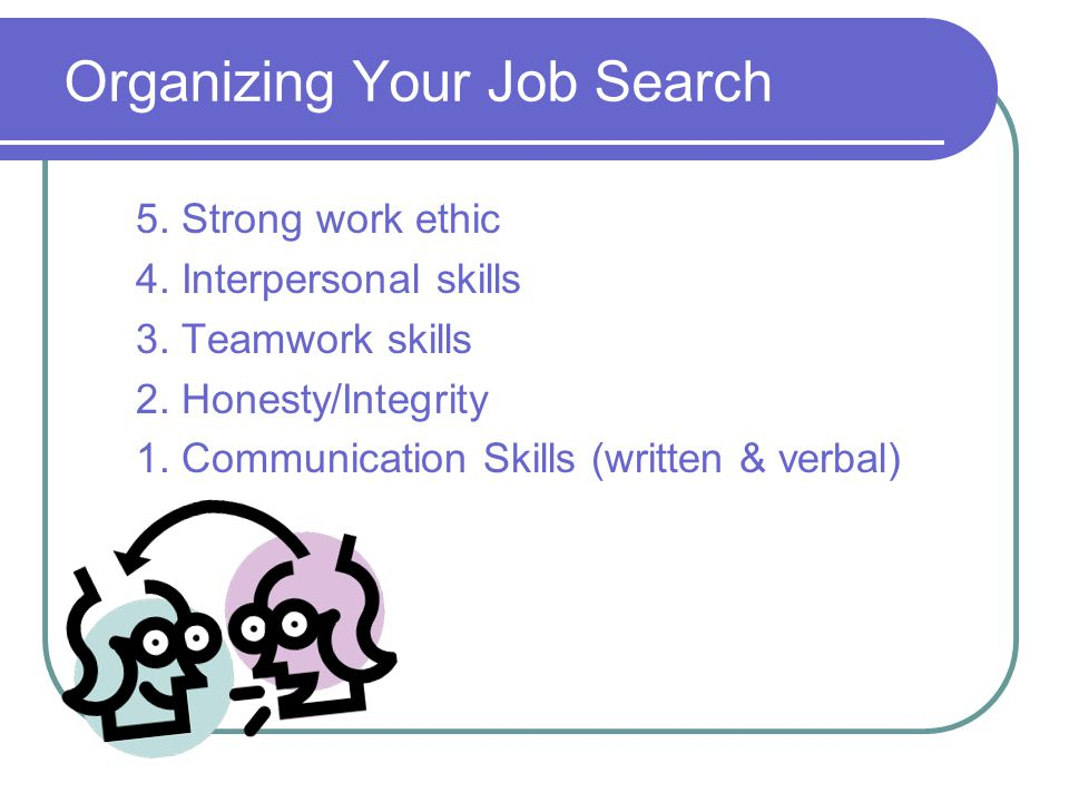 5. Strong work ethic 4. Interpersonal skills 3. Teamwork skills 2.