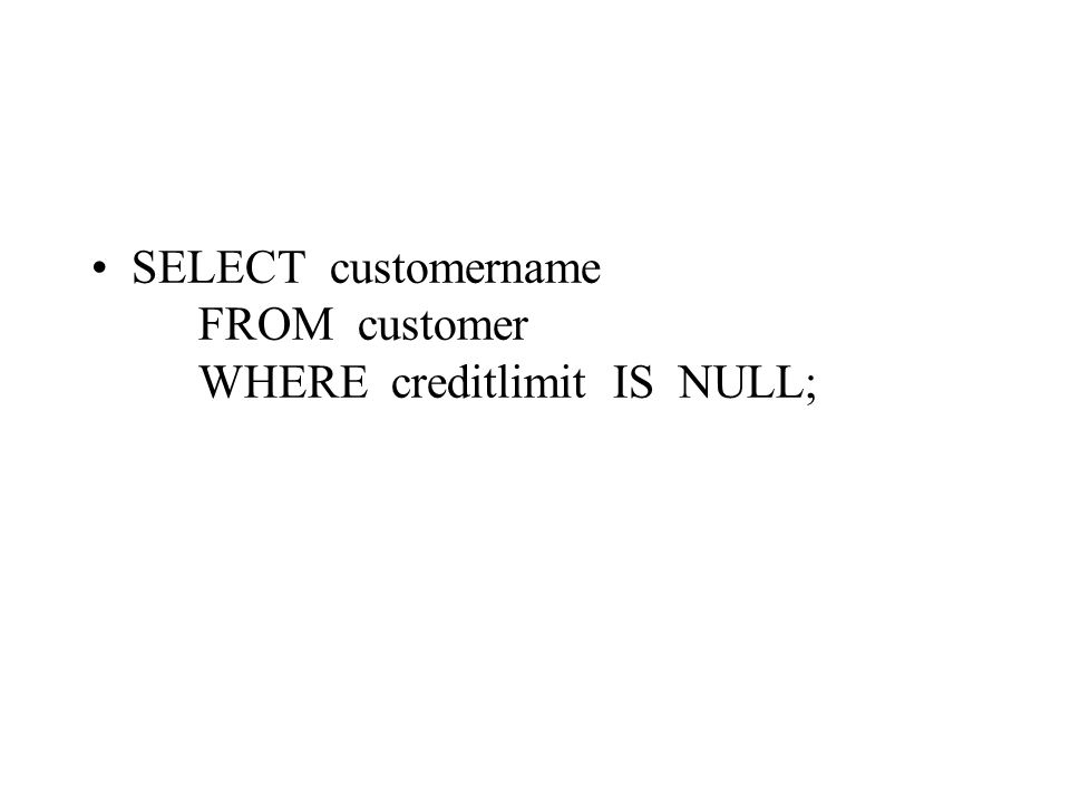 SELECT customername FROM customer WHERE creditlimit IS NULL;