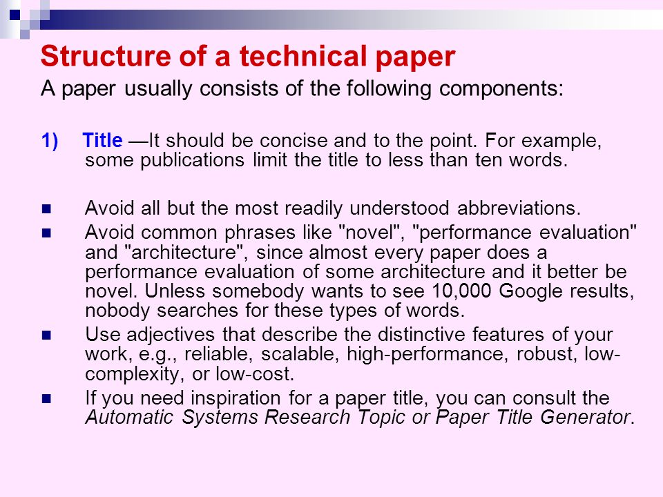 writing research paper techniques Writing a scientific research article methods, results and conclusions of the paper 3 it is not easy to include all this information in just a few words.