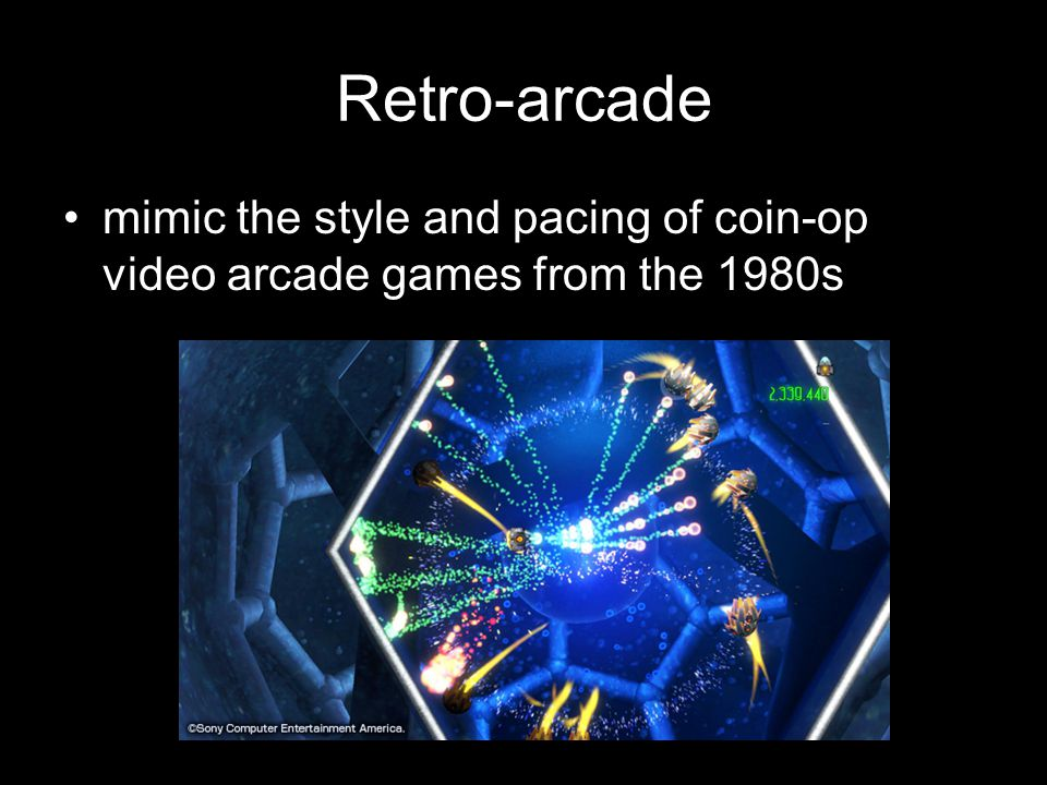 Retro-arcade mimic the style and pacing of coin-op video arcade games from the 1980s