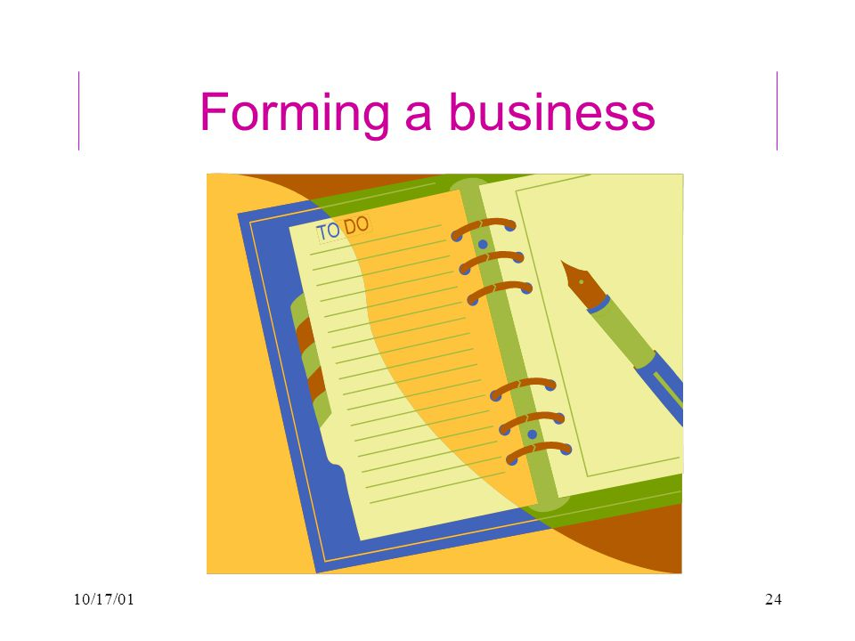 10/17/0124 Forming a business