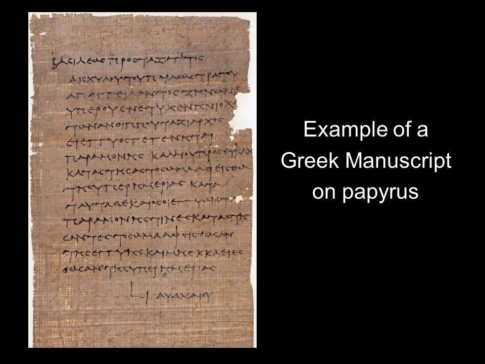 Example of a Greek Manuscript on papyrus