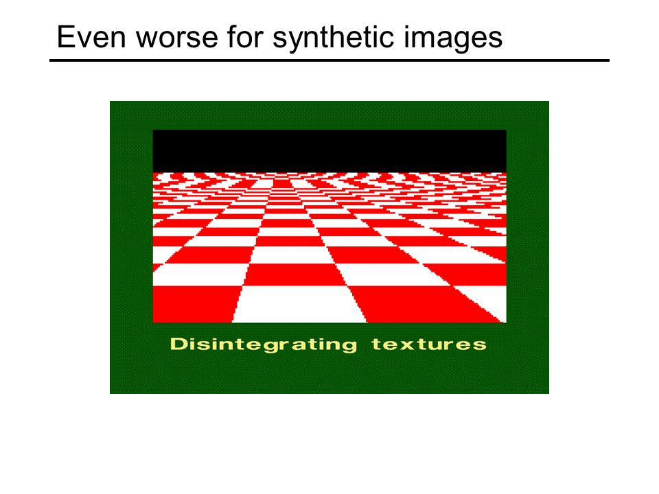 Even worse for synthetic images