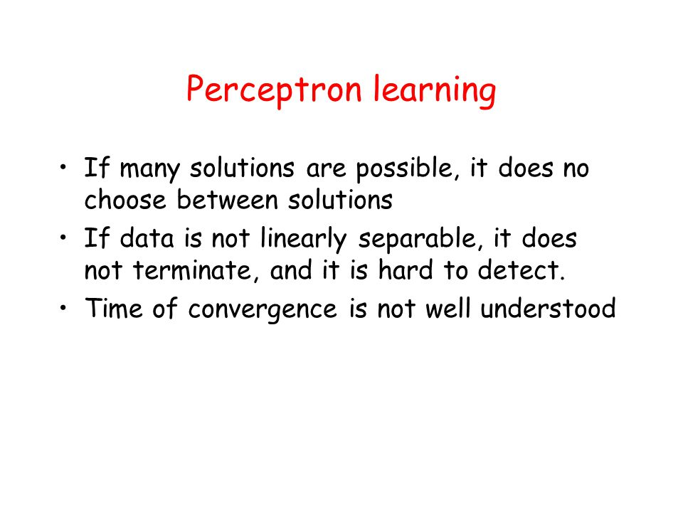 Classification based on perceptron learning Use Rosenblatt's algorithm to compute the hyperplane L=( ,  0 ).