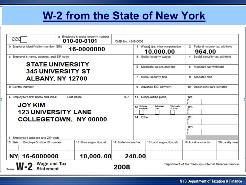 New York State Department of Taxation and Finance Resident Alien ...