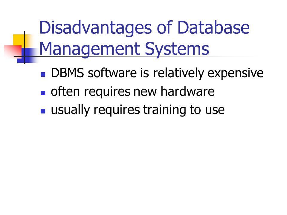 disadvantages of database management system Database Software File Management Systems Database Management ...
