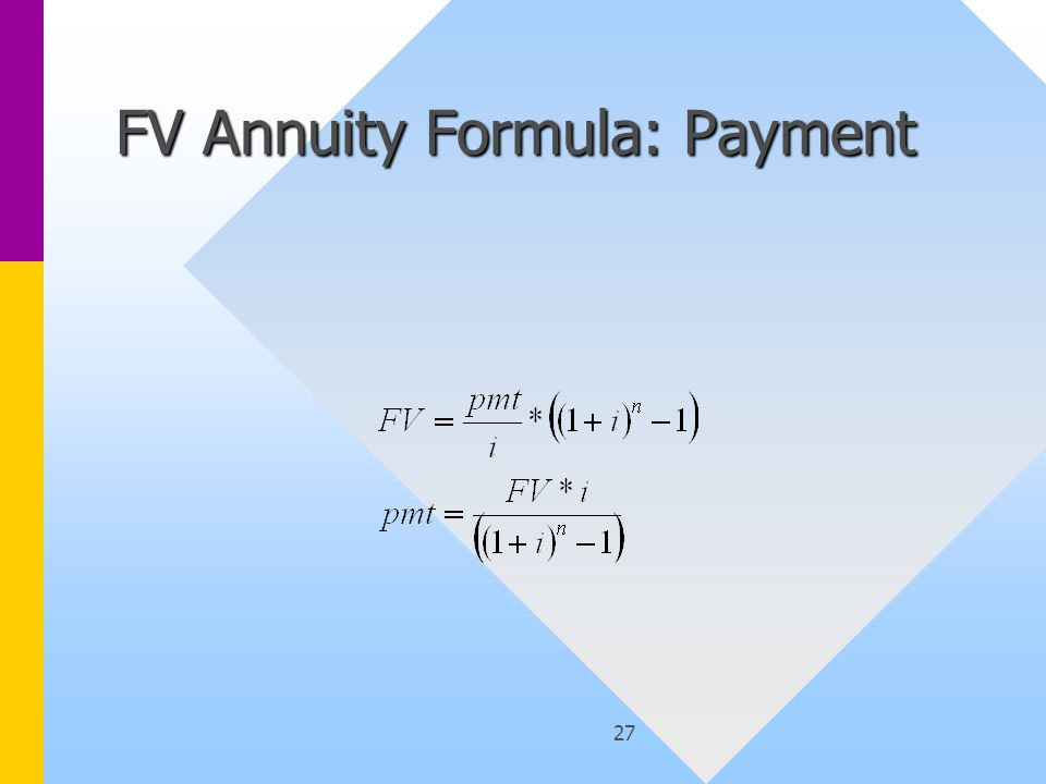 27 FV Annuity Formula: Payment