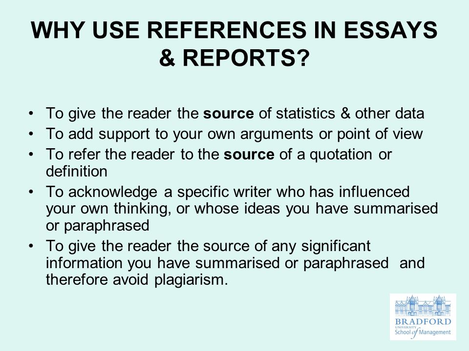 Reference In An Essay