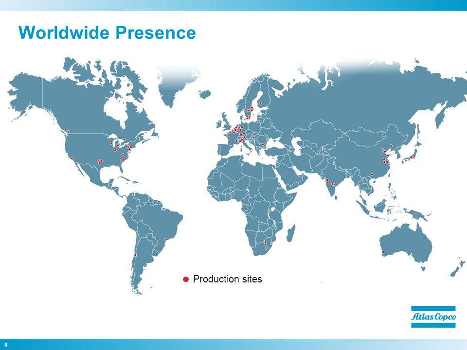 4 Worldwide Presence Production sites