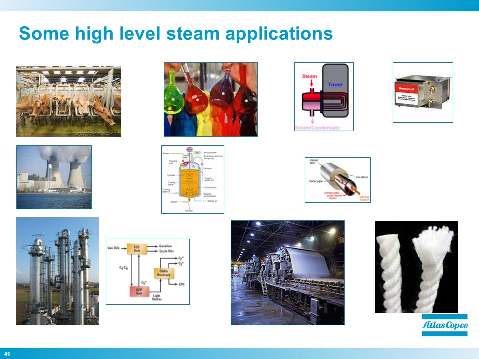 41 Some high level steam applications