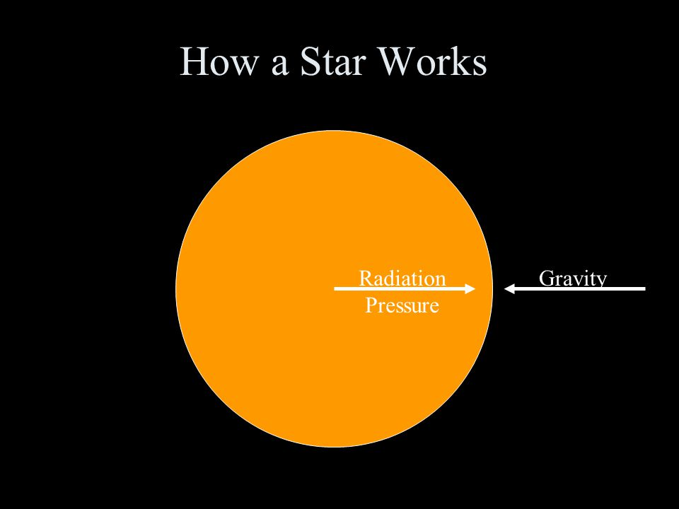 How a Star Works Radiation Pressure Gravity