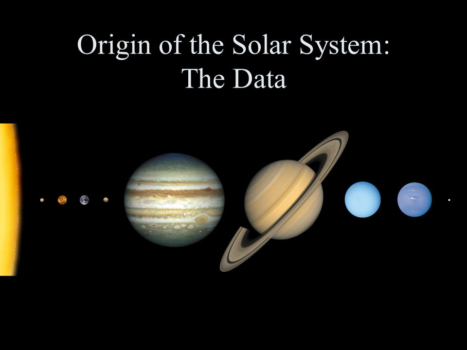 Origin of the Solar System: The Data