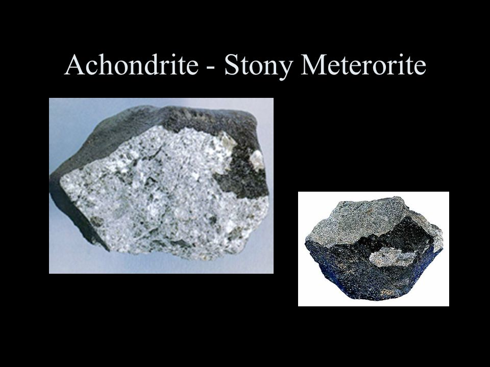 Achondrite - Stony Meterorite A stone from the Stannern eucrite shower that fell over Moravia, Czech Republic in 1808.