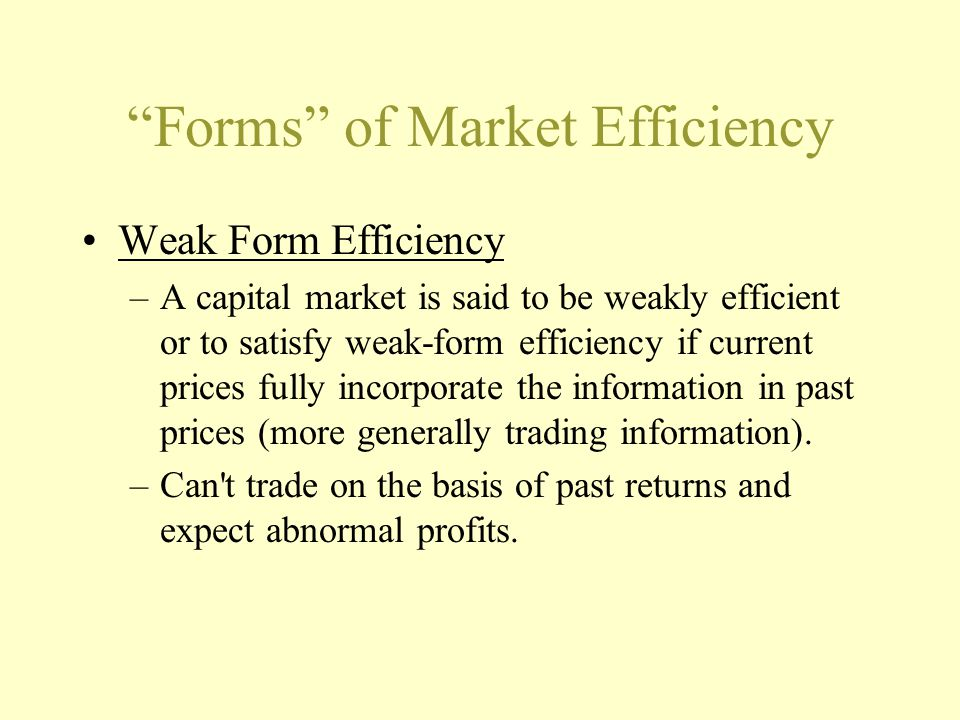 Corporate Financing Decisions and Efficient Capital Markets. - ppt ...