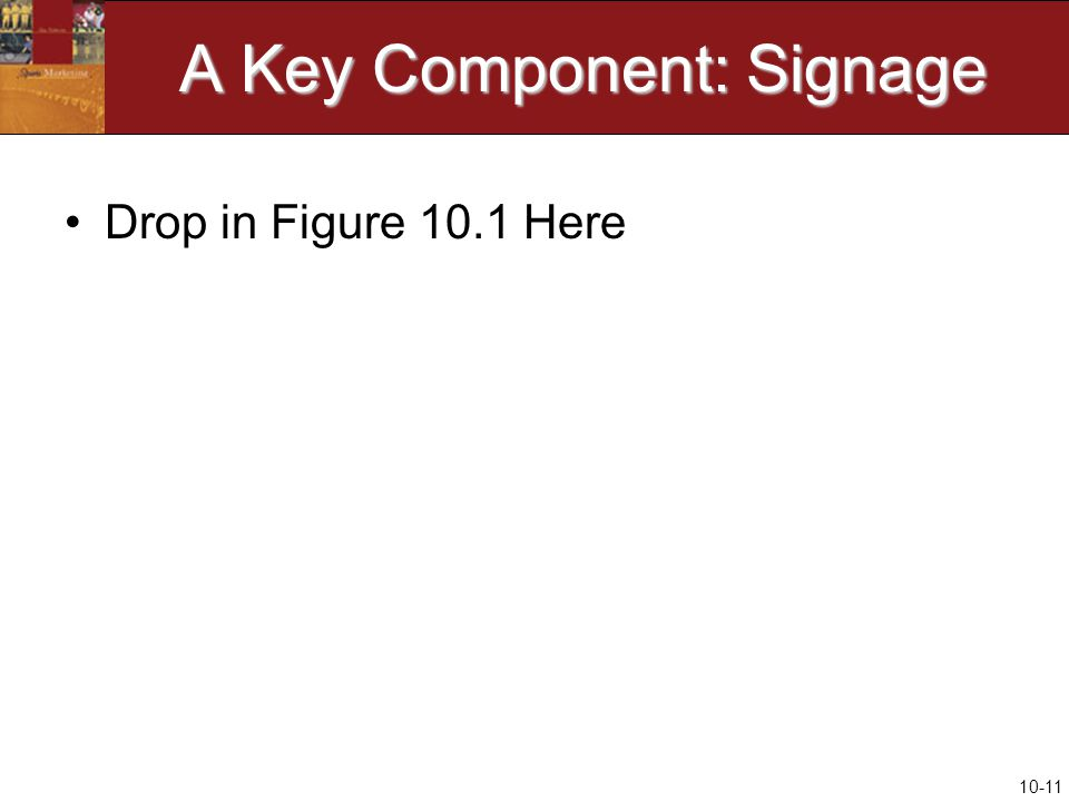 10-11 A Key Component: Signage Drop in Figure 10.1 Here
