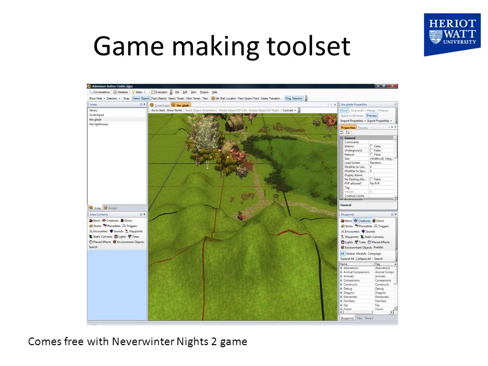 Game making toolset Comes free with Neverwinter Nights 2 game
