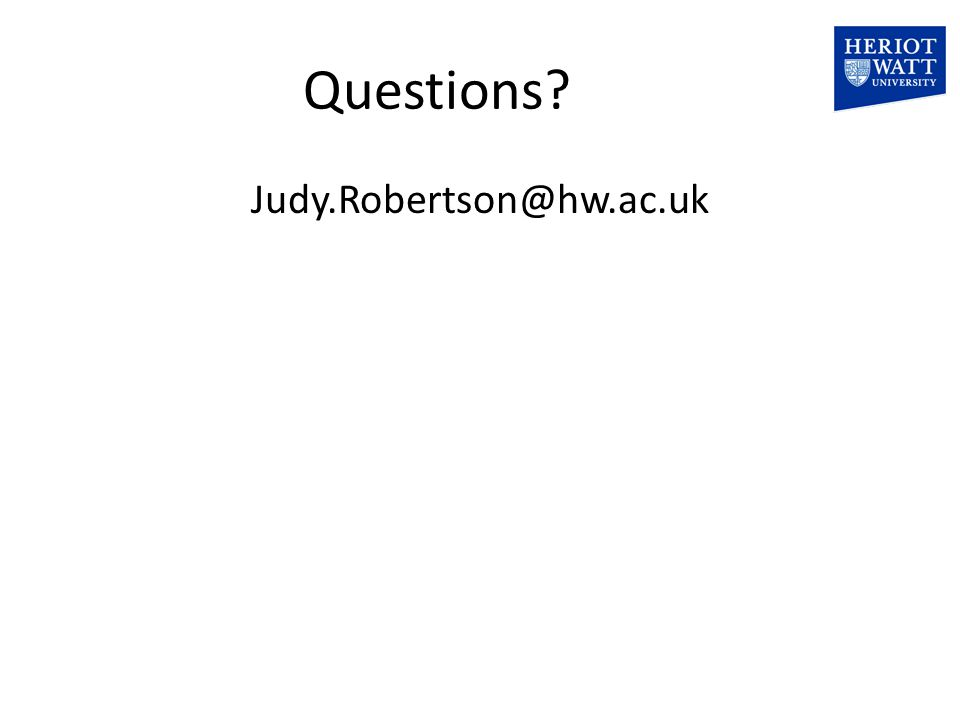 Questions Judy.Robertson@hw.ac.uk
