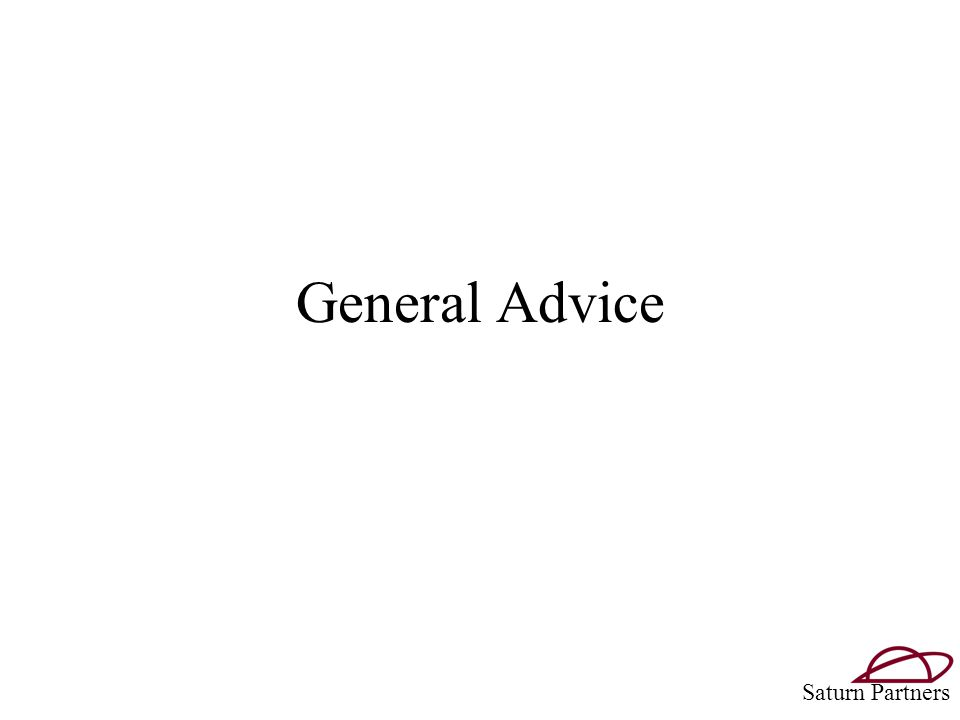 General Advice Saturn Partners