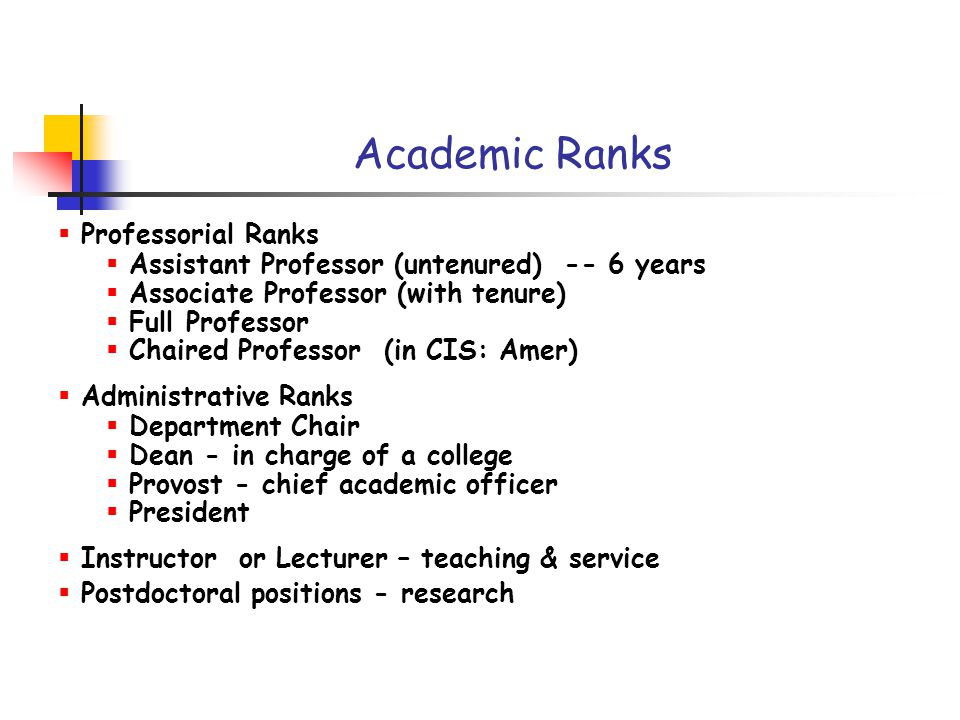 Academic Careers Adapted from presentations and slides by: T ...