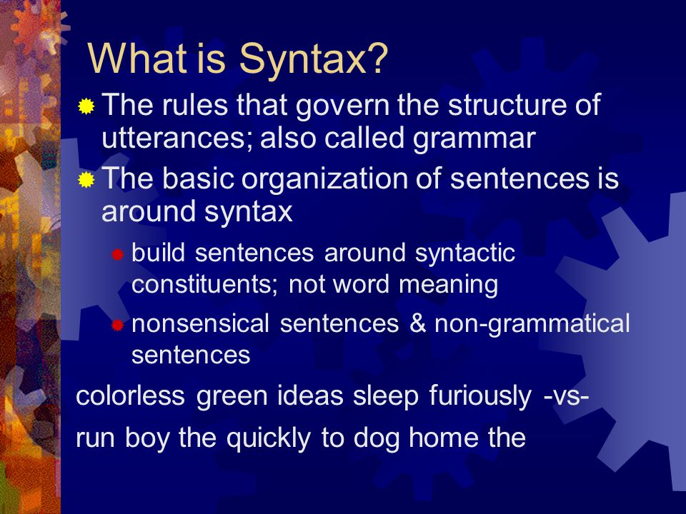 What is Syntax.
