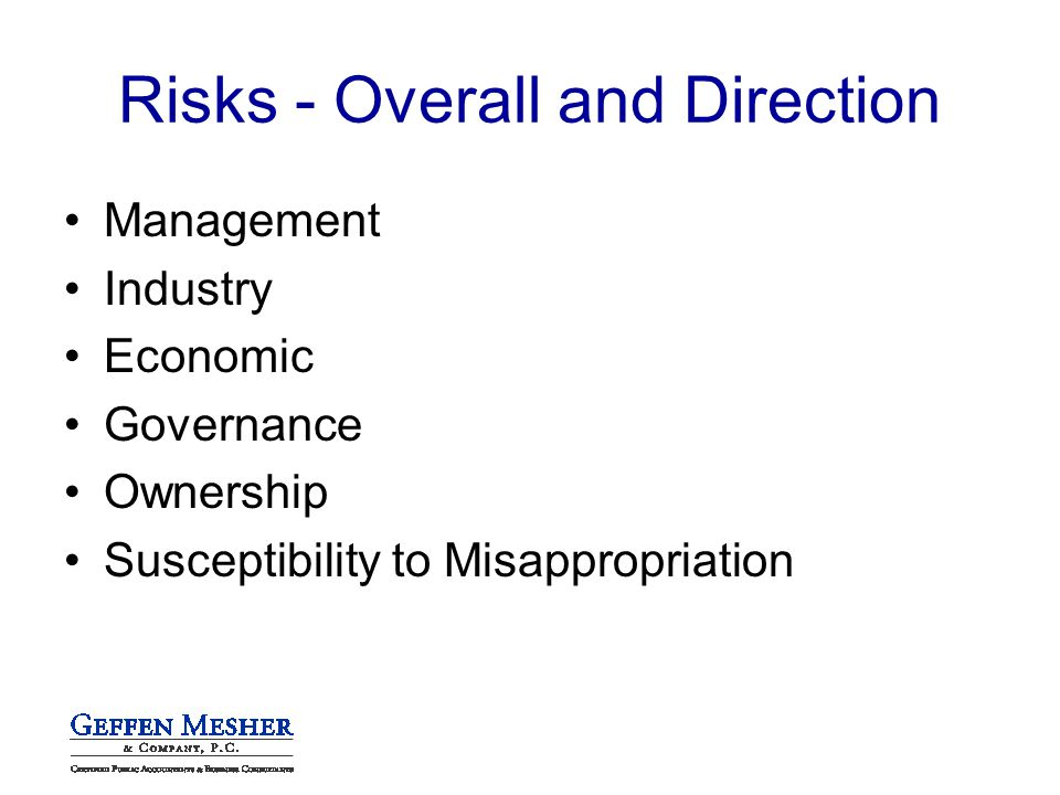Management Industry Economic Governance Ownership Susceptibility to Misappropriation
