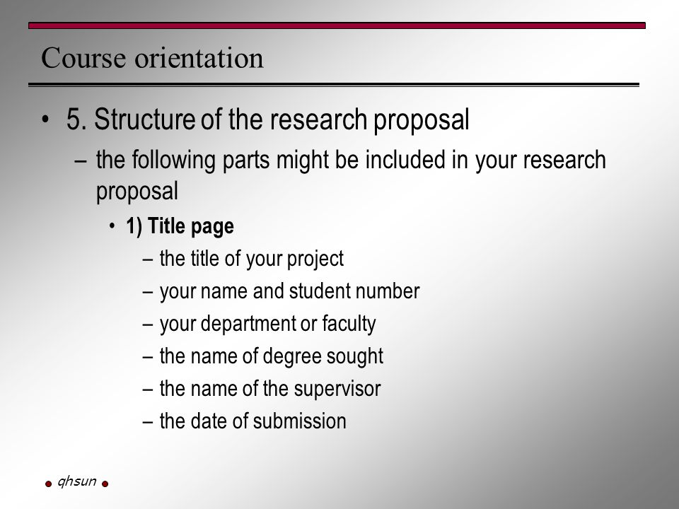 1 Page Research Proposal