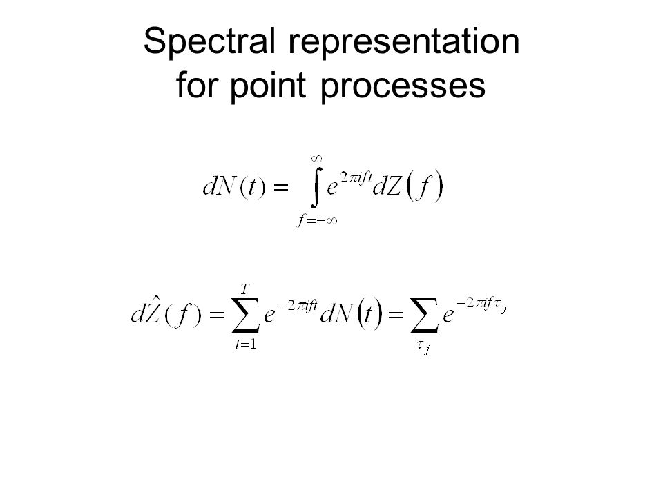 Spectral representation for point processes