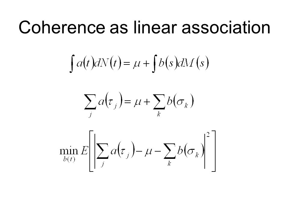Coherence as linear association