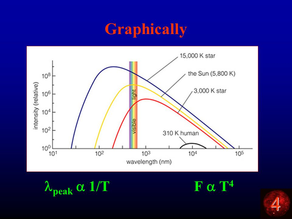 4 Graphically peak  1/T F  T 4