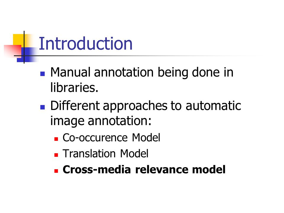 Introduction Manual annotation being done in libraries.