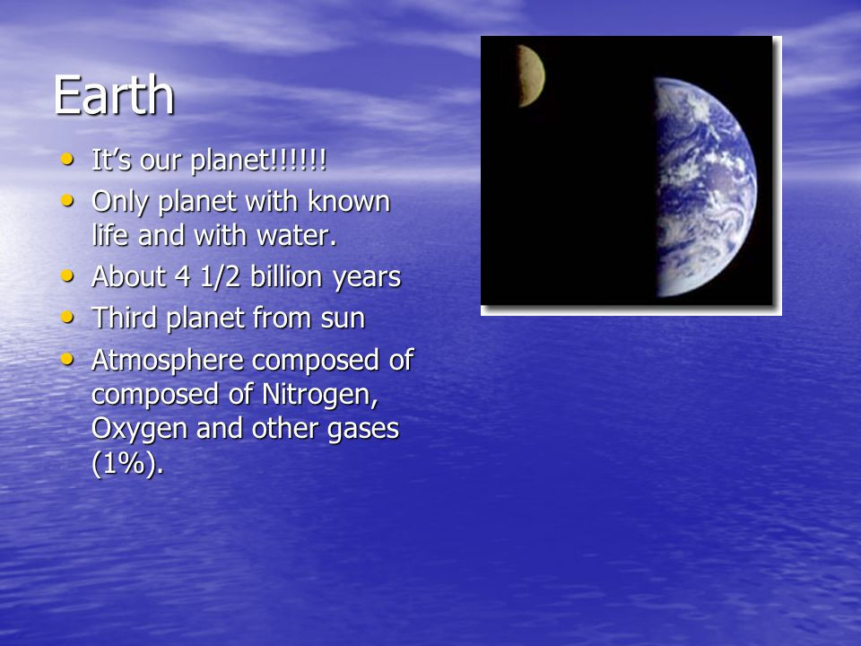 Earth It's our planet!!!!!. It's our planet!!!!!.