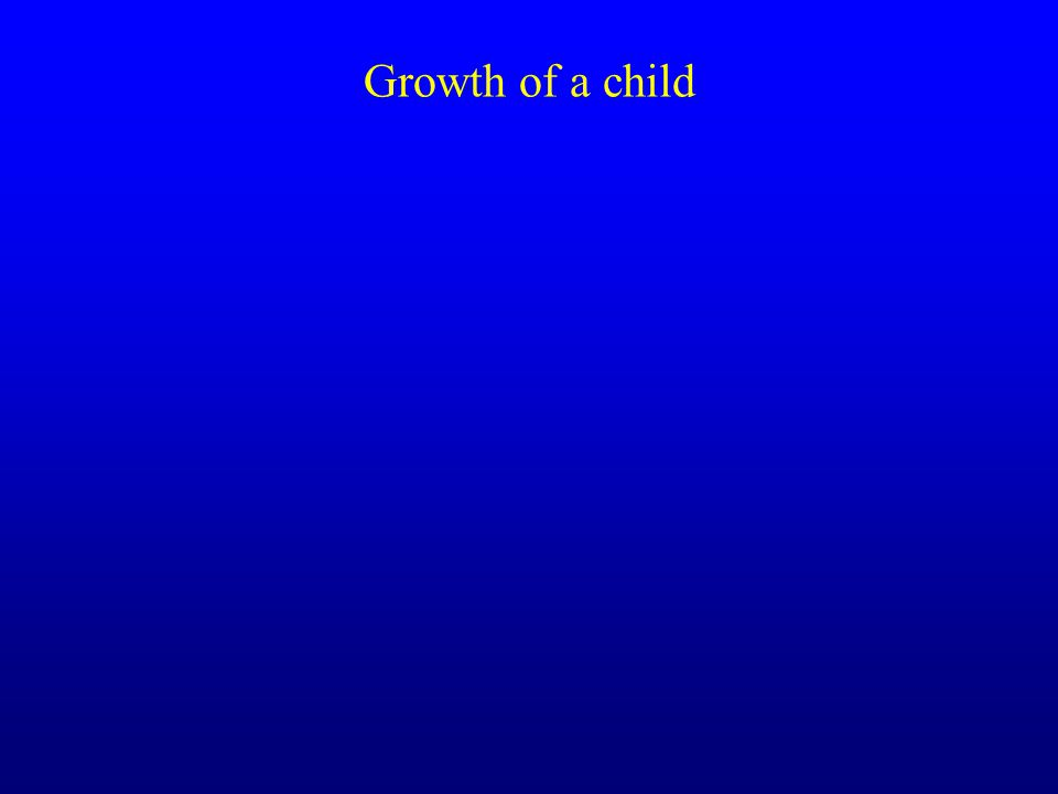 Growth of a child