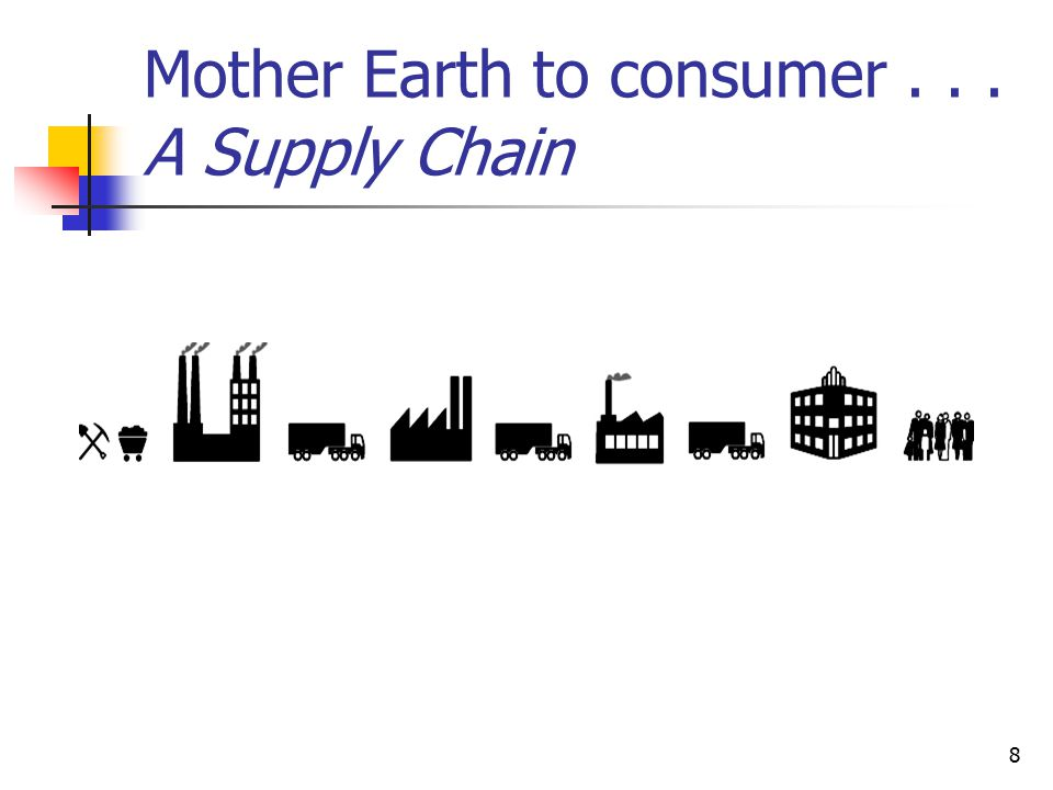 8 Mother Earth to consumer... A Supply Chain