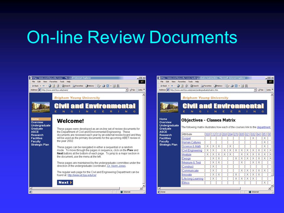 On-line Review Documents