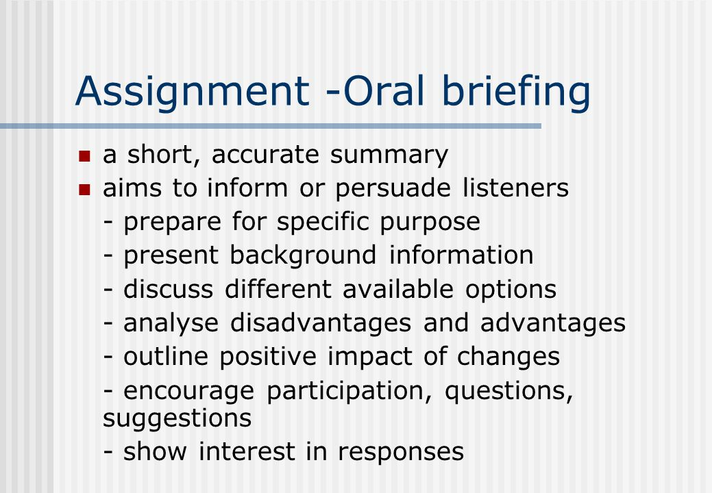 Types of Oral Communication Prepared speeches - planned prior to ...