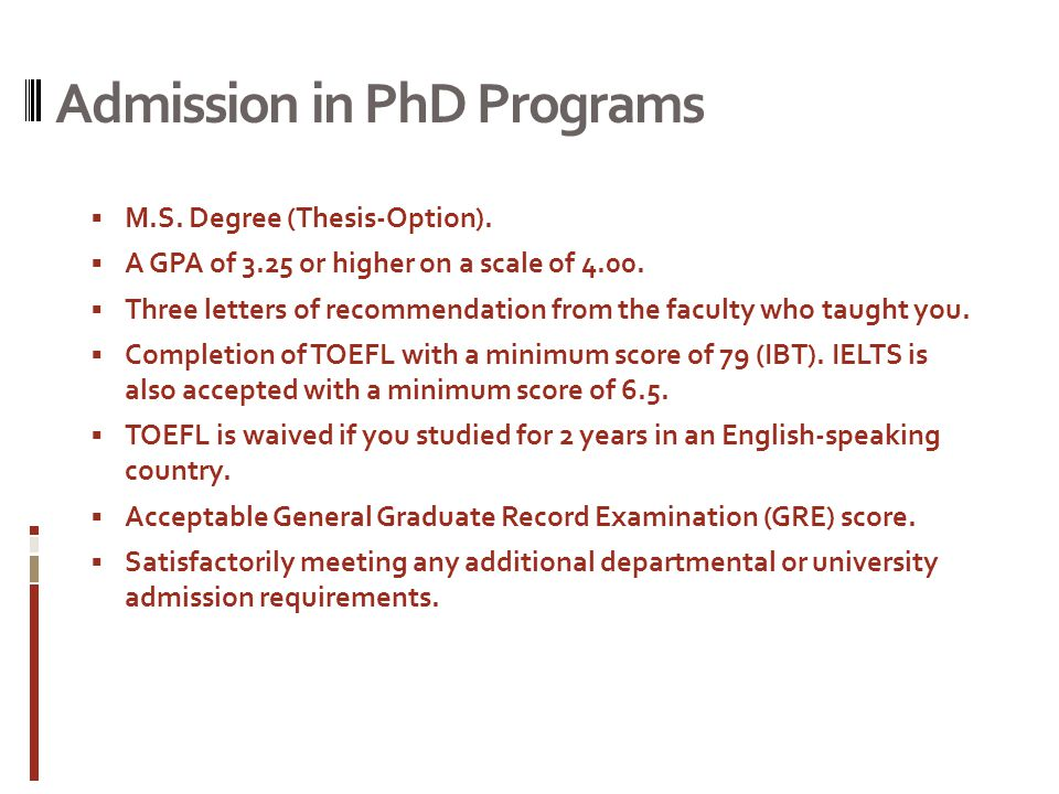 Thesis option masters degree